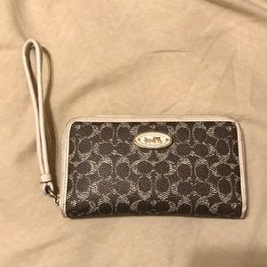 Coach mini wallet.